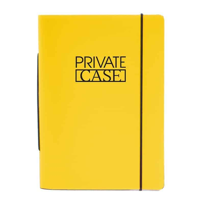 Keltainen uusionahkainen Unlimited Notes -muistivihko.