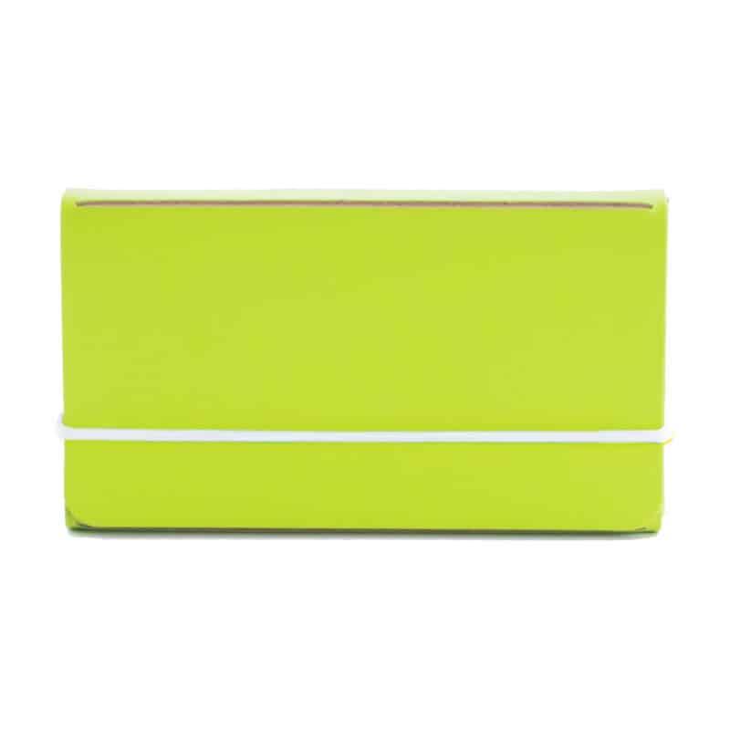 Lime uusionahkainen käyntikorttikotelo.