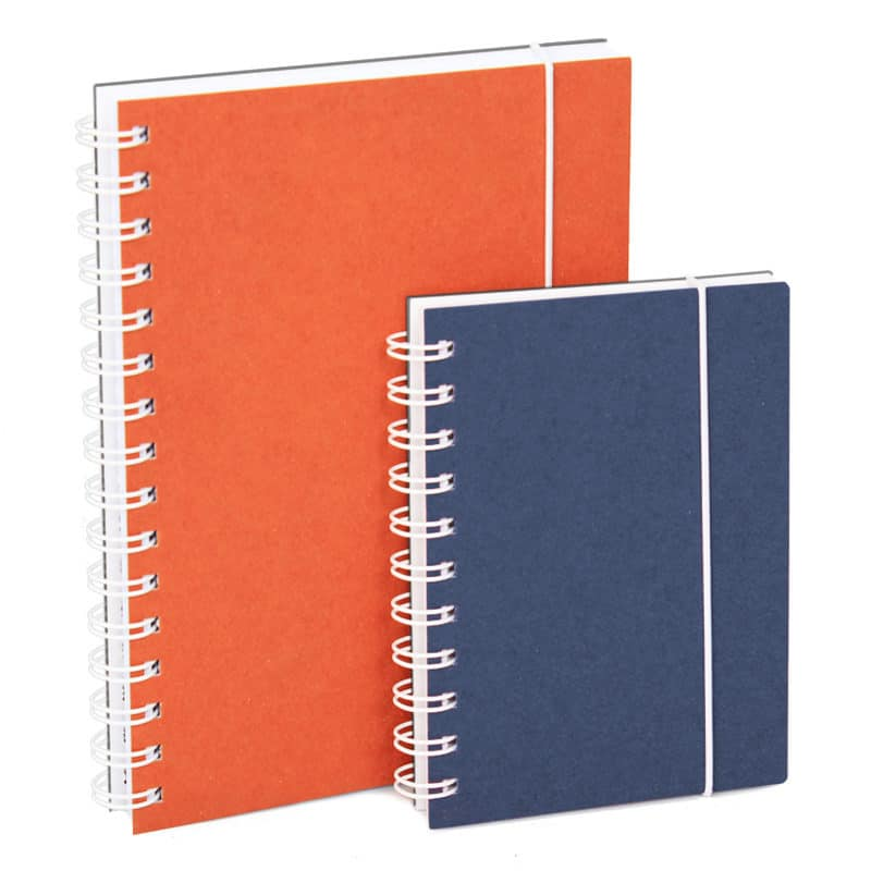 A5 and A6 sized notebooks made of recycled cardboard.