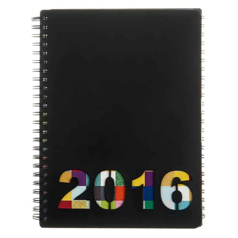 Durat kalenteri, stanssattu vuosiluku, uusionahka