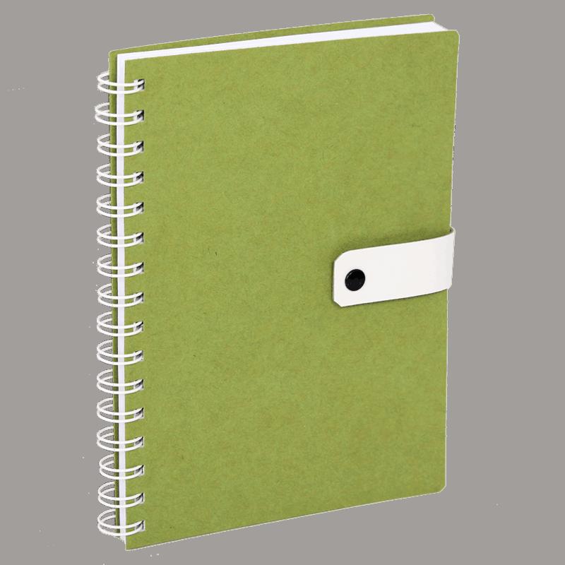 Uusiopahvinen bullet journal muistivihko.