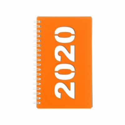 Orange Classic pocket calendar.