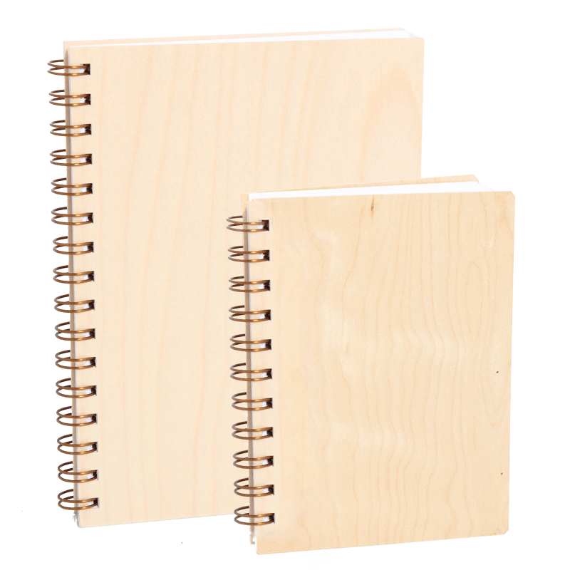 Notebook with plwood covers.